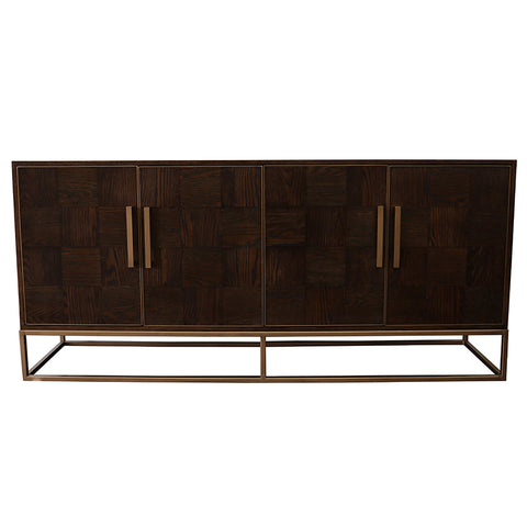 Sideboard Iron & Oak Anaheim - Modern Geometric Chic