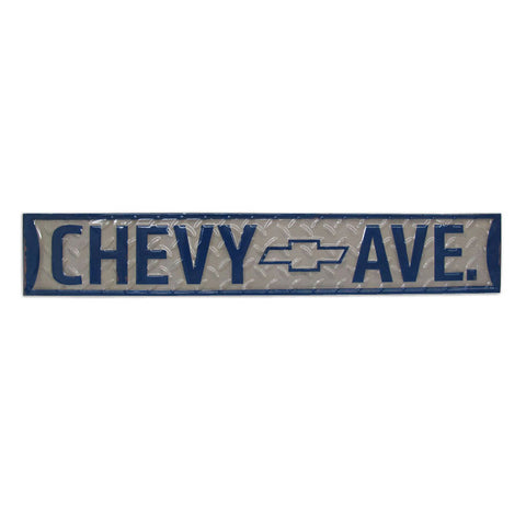 Chevrolet Chevy Avenue Embossed Road Sign Man Cave Wall Art Sign