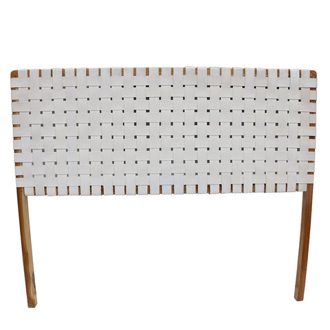 Super King Teak & White Leather Unison Headboard Bedhead - Home of Temptations Interior Design Furniture Decor & Gifts http://www.hotdesign.co.nz