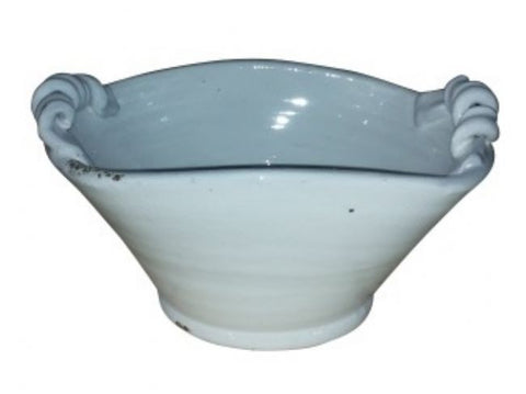 Mykonos Bowl Curled Handles - Handmade (White) - Home of Temptations Interior Design Furniture Decor & Gifts http://www.hotdesign.co.nz