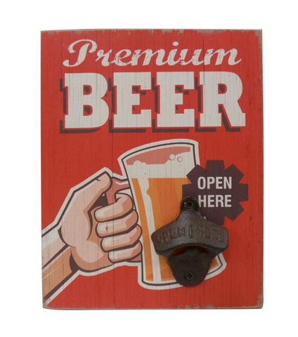 Premium Beer Funny Bottle Opener Wall Art - Home of Temptations Interior Design Furniture Decor & Gifts http://www.hotdesign.co.nz