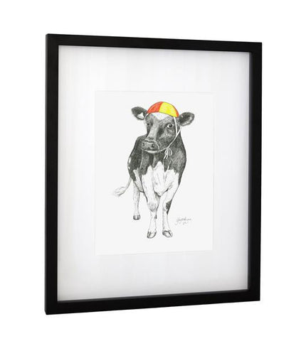 "Kiwiana Art Print ""Coco Cow"" - From A Unique NZ Series"