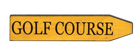 New Zealand Vintage Style Wooden Street Sign 'Golf Course' Wall Sign