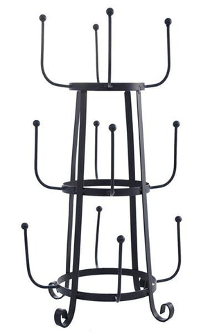 Metal 12 Arm Cup Holder Stand Kitchen / Outdoor Entertaining Decor