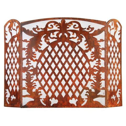 Rustic Metal Fire Guard For Outdoor Entertaining