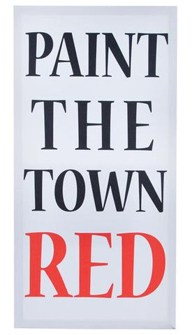 Paint The Town RED Print On Canvas Frame