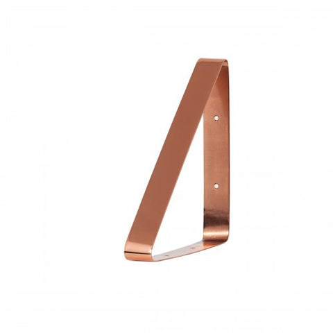 Set of Four Brass or Copper Shelving Brackets - Modern Shelving