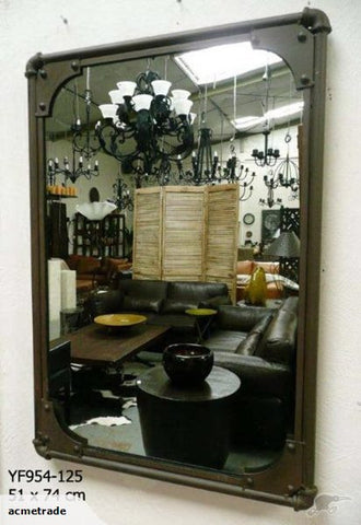 Industrial Chic Mirror Rustic Steampunk Style - Home of Temptations Interior Design Furniture Decor & Gifts http://www.hotdesign.co.nz