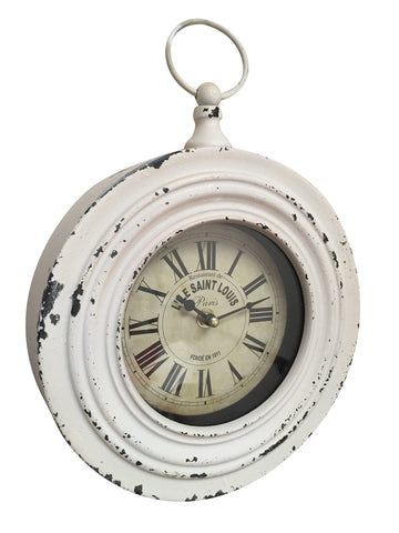 Chic Distressed Villa Hanging Clock Antique Style