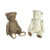 Teddy Bear Ornaments - Gorgeous Set of Two in Brown & White