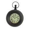 Chic Distressed Villa Hanging Clock Antique Style (Rustic Black)