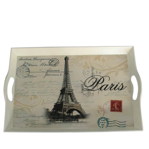 Decorative Eiffel Tower Outdoor Entertaining Serving Tray