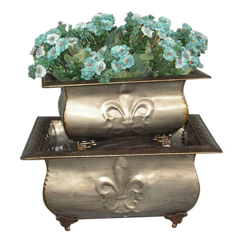 Gunmetal Fleur Des Lys Footed Flower Pot Planter Troughs- Indoor Ornament - Home of Temptations Interior Design Furniture Decor & Gifts http://www.hotdesign.co.nz