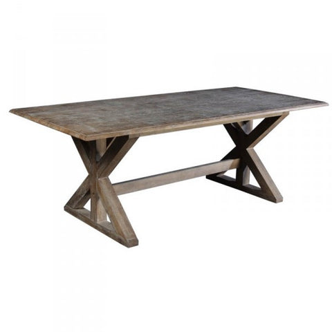 Jacques Architectural Oak Wood Dining Table