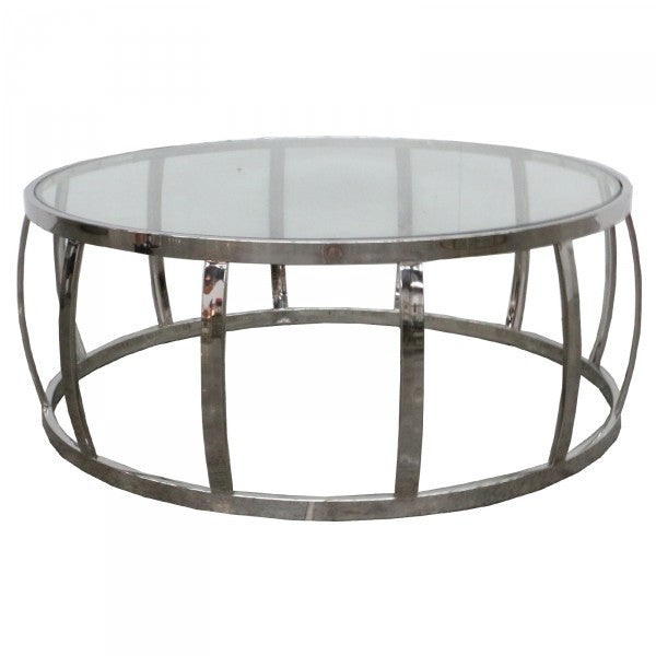Drum Shaped Coffee Table.Drum Shaped Modern Metal Glass Coffee Table Home Of Temptations