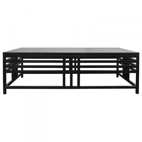 Geronimo Black Wood Stately Coffee Table