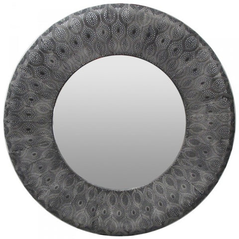 panama round patterned mirror black home of temptations interior