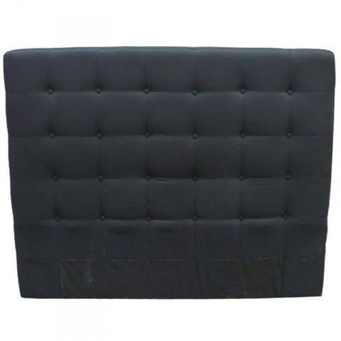 Ingrid Bedhead Headboard Black Linen (Queen)