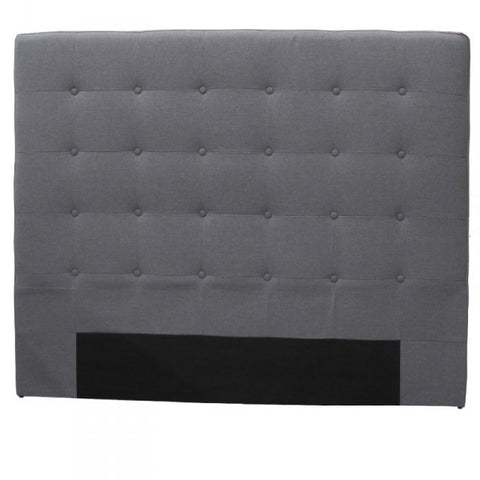 Ingrid Bedhead Headboard Grey Linen (Queen)