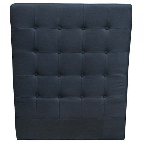 "King Single ""Ingrid"" Bedhead Headboard Black Linen - Home of Temptations Interior Design Furniture Decor & Gifts http://www.hotdesign.co.nz"