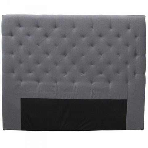 "Grey Linen Bedhead Headboard ""Florence"" Super King"