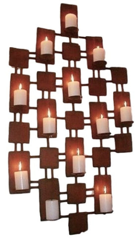 Huge Rustic Iron Candleholder Grand Entrance / Outdoor Feature Piece (Vertical)
