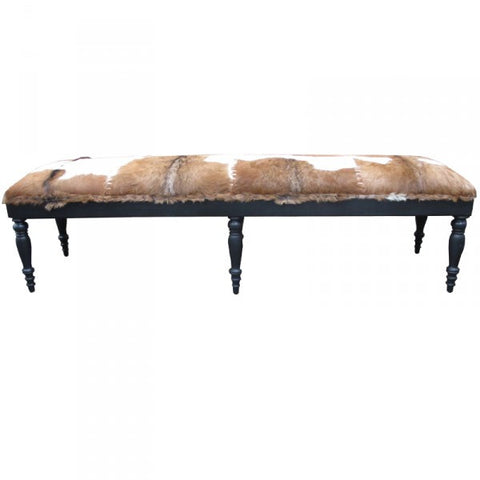 Hemingway Brown & White Goat Bench Seat