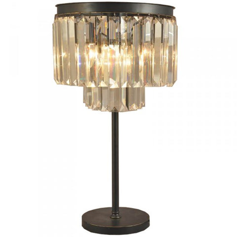 Vintage Deco Crystal Table Lamp Light - Home of Temptations Interior Design Furniture Decor & Gifts http://www.hotdesign.co.nz