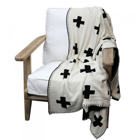Reversible Cross Cotton Lounge / Bed Throw
