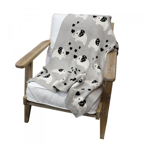 For the Love of Elephants Cotton Nursery / Lounge / Bed Throw