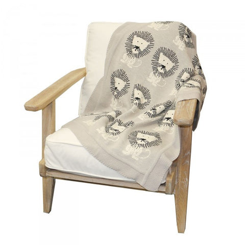 Bold as a Lion Cotton Nursery / Lounge / Bed Throw