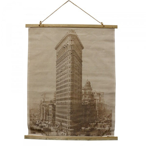 Old Sepia Building Scene XL Canvas Print Decorative Wall Hanging