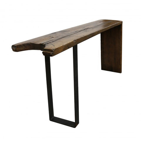 Rio Rustic Modern Wood Slab Console Table / Hall Table