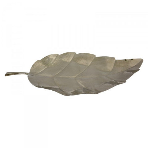 Leaf Shaped Stainless Steel Decorative Tray