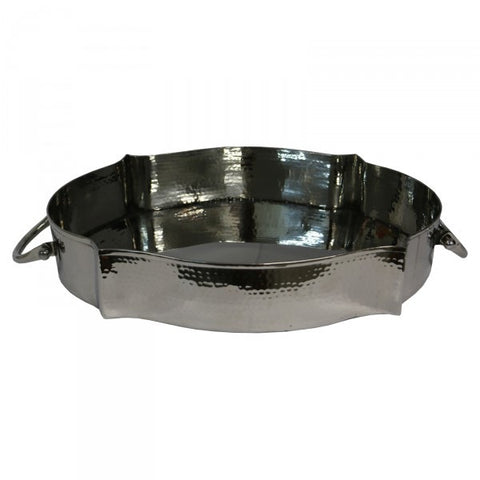 "Oval Stainless Steel ""Luca"" Decorative / Display Tray With Handles"