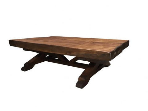 Sabino Wood Rustic Chic Thick Cut Coffee Table
