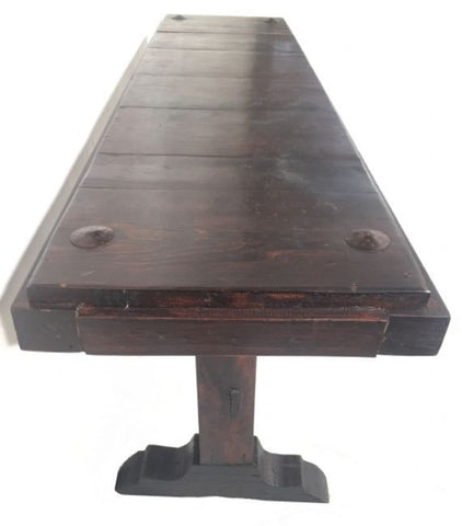 Mérida Rustic Chic Wood Console Table With Iron Detail