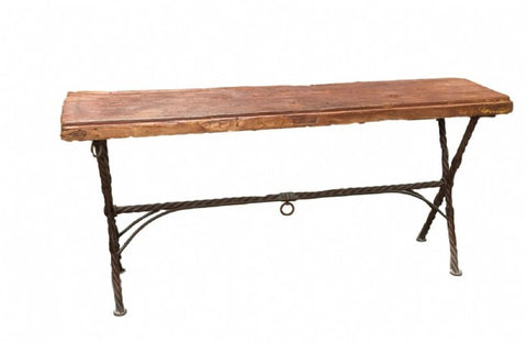 Acapulco Hand Forged Iron Talamantes Console Table Made In Mexico