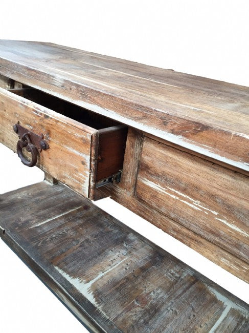 ... Calabasas Rustic White Washed Wood Console Table Made In Mexico ...