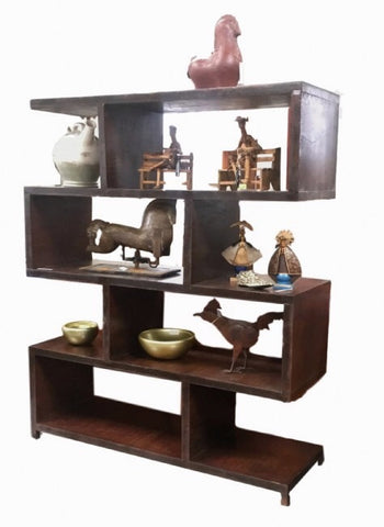 Eduardo Modern Rustic Hand Forged Iron Shelving Unit 1.5m x 1.8m