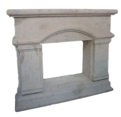 Fireplace Handcarved Solid Stone 1.4m
