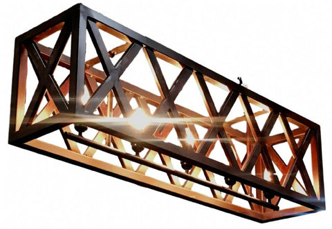 Rustic Iron Madeline Chandelier Lattice Box Light 1m - Home of Temptations Interior Design Furniture Decor & Gifts http://www.hotdesign.co.nz