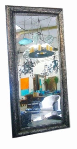 Fiorella Pewter Hand Embossed Tin Mirror - Home of Temptations Interior Design Furniture Decor & Gifts http://www.hotdesign.co.nz