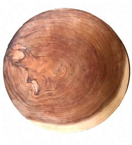 Muy Grande Decorative Platter Teak Wood Hand Turned Natural Interiors - Home of Temptations Interior Design Furniture Decor & Gifts http://www.hotdesign.co.nz
