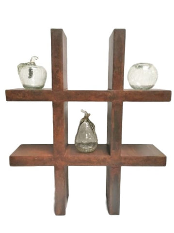 Riva Industrial Style Rustic Iron Display Unit Shelf