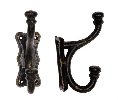 Salzburg Black Cast Iron French Country Rack Ornament - Great For Storage (Rustic)