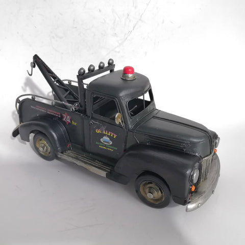 Black Tow Truck Vintage Style Automobilia - Perfect Gift!