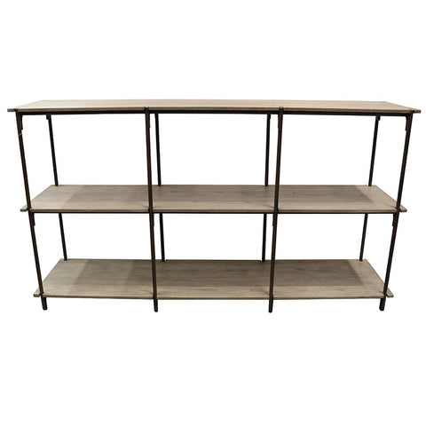 Industrial Chic Barrio Wood Sideboard / Entertainment Unit / Console Table - With Shelves
