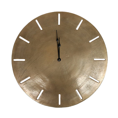 Aluminium Songo Antique Brass Clock Interior Design Decorative Showpiece
