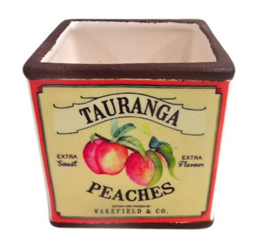 Moana Road Ceramic Pot Tauranga Peaches Taste of New Zealand - Home of Temptations Interior Design Furniture Decor & Gifts http://www.hotdesign.co.nz
